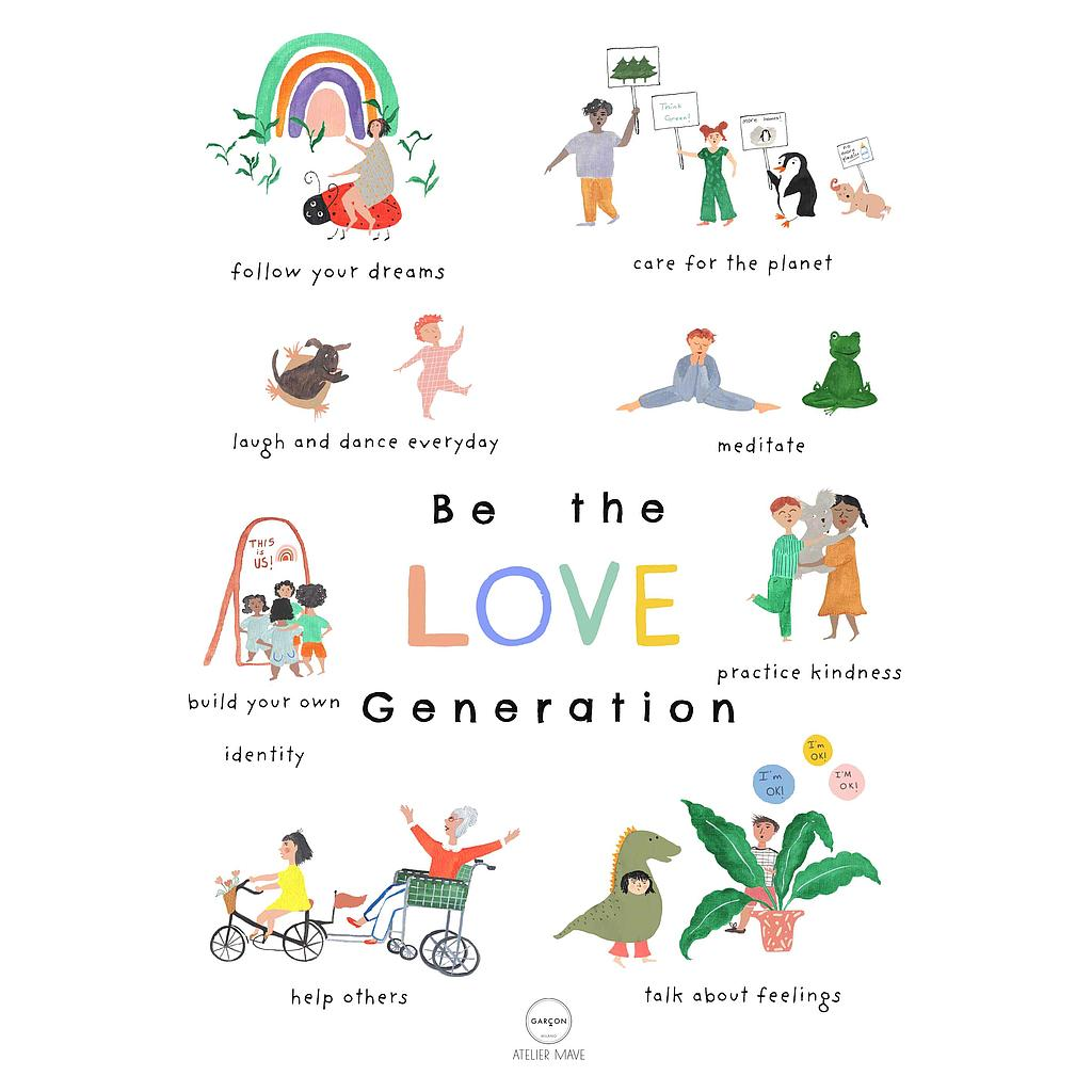 Affiche Love Generation A3